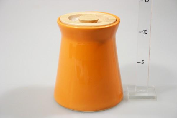 Dóza s drev. uzáver. oranžová