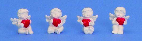 Anjel biely so srdcom 4cm 5421