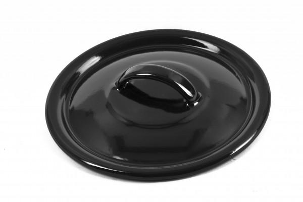 Pokrievka 18 cm - čierny smalt