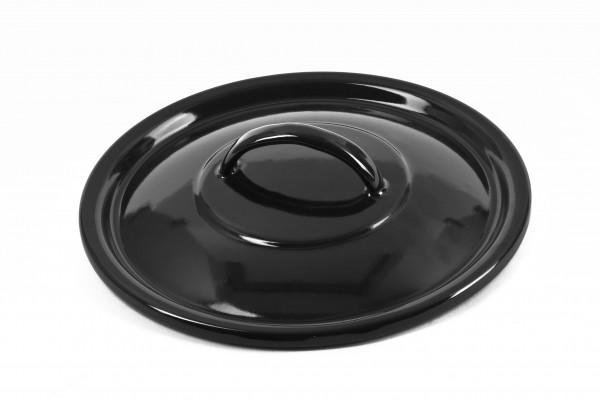 Pokrievka 22 cm - čierny smalt