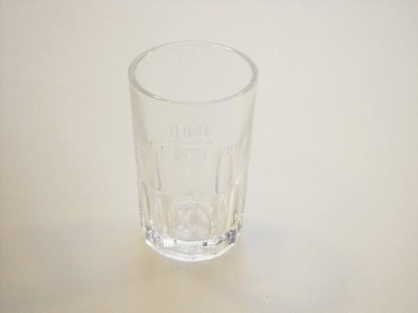Pohár sklo lisov. 40ml ciach.
