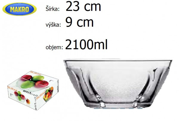 Misa BURAK 23x9cm 2, 1l