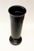 Váza na hrob 35cm černá zátěž