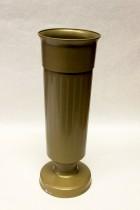 Váza na hrob 35cm zátěž zlatá