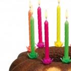 Svíčky dortové 12ks neon