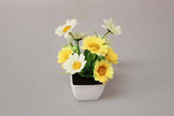 Květy v květináči mix