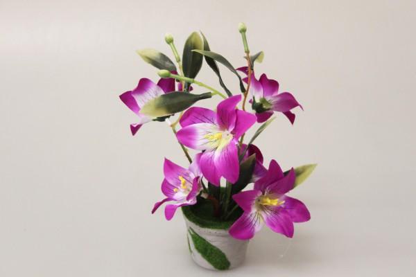 Květy v květináči 22cm
