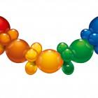 Balonek 25ks 175cm řetěz mix