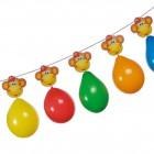 Balonky 13ks/3m řetěz mix