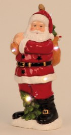 Mikuláš s LED 30, 5cm 6930