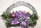 Dekorace na dveře vánoční fial