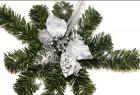 Dekorace vánoční stříbrná