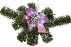 Dekorace vánoční fialová