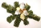 Dekorace vánoční zlatá/krém