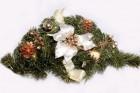 Dekorace vánoční krém/zlatá