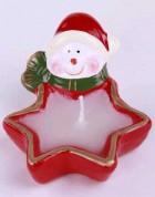 Svíčka dekor hvězda sněhulák