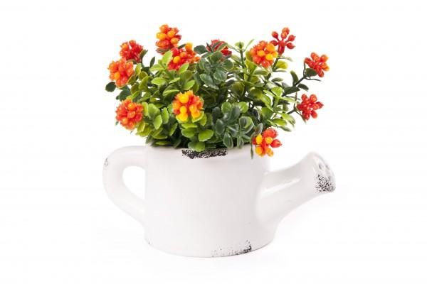 Květ umělý v konvičce