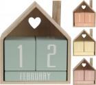 Kalendář dřevo dům mix