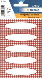 Etikety Vario červ.čtverečky