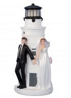 Ženich a nevěsta s LED 21cm