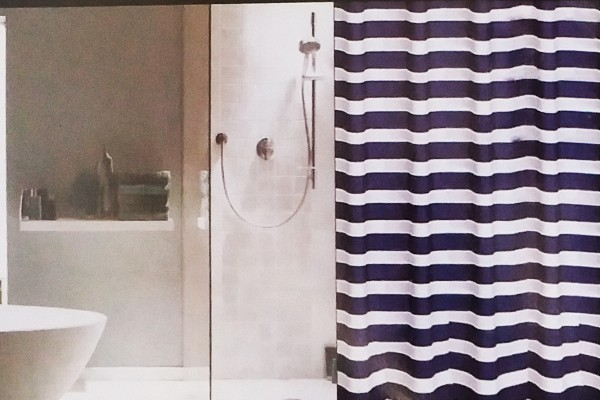 Závěs sprch. mořský tmavomodr.