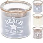 Svíčka sklo BEACH 10x10cm mix
