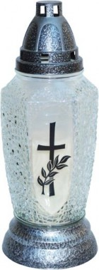 Kahan sklo kříž 1 28cm