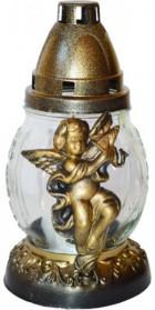 Kahan okr. anděl 20cm zlatý