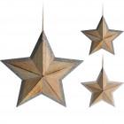 Hvězda GLITTER 29cm 2mix