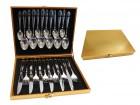 Sada příborů 24D ve zlatém kuf