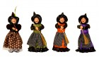 Čarodějnice stojící 29 cm mix