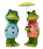 Žába s deštníkem 11-13cm mix